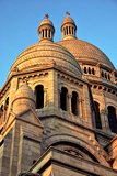 Low Angle View of the Basilica of the Sacred Heart or Sacre-Coeur Church Atop Montmartre Photographic Print by Babak Tafreshi