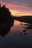 Sunset Colors the Potomac River Viewed from Chain Bridge Road Photographic Print by Vickie Lewis