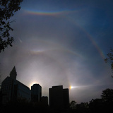 An Unusually Strong Atmospheric Halo around the Sun Photographic Print by Babak Tafreshi