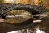 The 100 Year Old Boulder Bridge under Fall Color in Rock Creek Park Photographic Print by Vickie Lewis