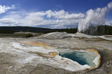 Steam Rises in the Upper Geyser Basin Photographic Print by Raul Touzon