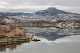 A Snow-Dusted Landscape in Winter at Abiquiu Lake, a Reservoir in Northern New Mexico Photographic Print by Eduardo Rubiano