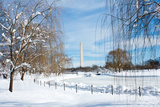 The Washington Monument on a Snowy Day Photographic Print by Vickie Lewis