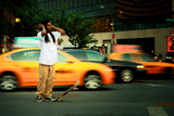 A Young Skateboarder in Union Square, New York City Photographic Print by Sabine Jacobs