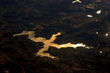 An Aerial View of Dragon Lake, a Dam-Made Lake Near Phoenix Photographic Print by Babak Tafreshi
