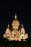Night Shot of the Basilica of the Sacred Heart or Sacre-Coeur Church Atop Montmartre Photographic Print by Babak Tafreshi