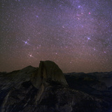 The Milky Way and the Constellation Gemini, the Twins, Appear over Half Dome Photographic Print by Babak Tafreshi