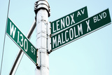 Street Sign in Harlem, New York City Photographic Print by Sabine Jacobs