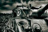 David Bracher - Sherman Tank - Fotografik Baskı