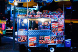 Street Vendor Selling Hot Dogs on Times Square at Night, Manhatt Photographic Print by Sabine Jacobs