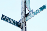 Prince and Mulberry Street Signs, Little Italy, New York City Photographic Print by Sabine Jacobs