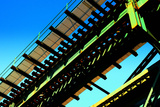 Rusty Subway Bridge Against Blue Sky from a Low Angle, Bronx, Ne Photographic Print by Sabine Jacobs