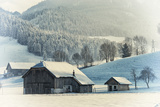An Old Farm in the Winter, Austria, Europe Photographic Print by Sabine Jacobs