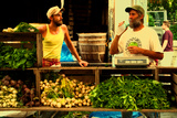Two Farmers at the Union Square Green Market, New York City. Reproduction photographique par Sabine Jacobs