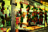 Street Vendor at a Market in Little Italy Selling Italian Specia Photographic Print by Sabine Jacobs