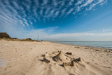 A View of a Deserted Beach with Sand Castle in England Photographic Print by Will Wilkinson