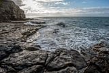Rocky Coastline with Sea Photographic Print by Will Wilkinson