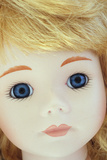 Close Up of Face of Contemporary Girl Doll Photographic Print by Den Reader
