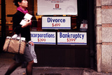 Advertising Posters for a Cheap Divorce and Bankruptcy, Manhatta Photographic Print by Sabine Jacobs