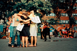 A Group of Young People Giving Free Hugs, Union Square, New York Photographic Print by Sabine Jacobs