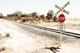 Train Track in Remote Landscape Photographic Print by Will Wilkinson