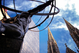 Atlas Staue and St. Patrick's Cathedral, Manhattan, New York Cit Photographic Print by Sabine Jacobs