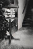 Private ... Members of the College Only Photographic Print by Laura Evans
