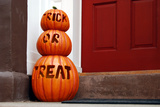 Trick or Treat Pumpkins, West Village, Manhattan, New York City Photographic Print by Sabine Jacobs