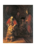 Return of the Prodigal Son Giclée-tryk af Rembrandt van Rijn