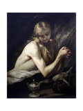Penitent Magdalene (Dressed Only in Her Hair) Art by Jose de  Ribera