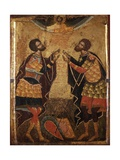 Saints Theodorus of Tyre and Theodore Stratelates Posters by Onufri Qiprioti