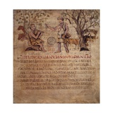 Mythical Herdsmen Tityrus and Melibeus Posters