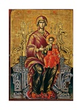 Mother of God on a Throne Posters by Joan Athanasi