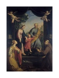 Return from Flight to Egypt with Sts. Catherine and Francis Prints by Benedetto Marini