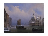Snow and Fog in Venice (Grand Canal and Church of the Salute) Posters by Ippolito Caffi