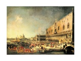 Entrance to The Ducal Palace of Count Gergy, Ambassador of France Giclee Print by  Canaletto