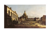 New Market Square in Dresden Prints by Bernardo Bellotto