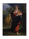 Flight to Egypt (Mary Walking and Carrying Jesus) Prints by Giovanni Andrea Ansaldo