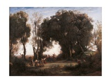 Morning Dance of the Nymphs Giclee Print by Jean-Baptiste-Camille Corot
