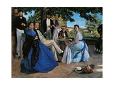 Family Reunion Print by Frederic Bazille