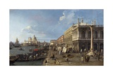 Venice: Dock Facing the Zecca Palace with the Column of Saint Theodoro Posters by  Canaletto