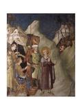 St. Martin of to urs Refusing to Fight and Emperor Julian Apostate, C.355-60. Kunstdrucke von Simone Martini