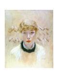 Woman's Head (Against Abstract Background) Posters par Giuseppe De Nittis