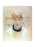 Woman's Head (Against Abstract Background) Posters by Giuseppe De Nittis