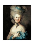 Lady in Blue Giclee Print by Thomas Gainsborough