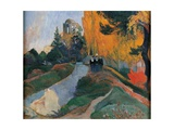 Les Alyscamps Print by Paul Gauguin