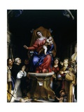 Altarpiece of Saint Bartholomew Church (Saints Adoring Madonna and Child) Posters by Lorenzo Lotto