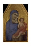 Madonna and Child on Gold Background, from 14th Century Triptych Print