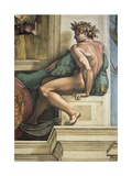 Sistine Chapel Ceiling, Male Nude Prints by  Michelangelo Buonarroti