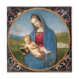Madonna with the Book Print by Raffaello Sanzio